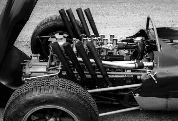 A BRM V8 engine. German Grand Prix, Nurburgring, 5 August 1962.
