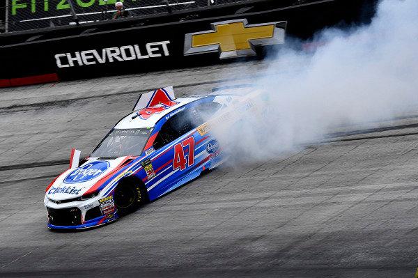 #47: A.J. Allmendinger, JTG Daugherty Racing, Chevrolet Camaro Kroger ClickList slides through turn two.