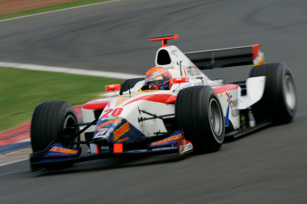 2005 GP2 Series - Great BritainSilverstone , England8th - 10th July 2005Friday QualifyingSergio Hernandez (E, Campos Racing). Action. World Copyright: GP2 Series Media Service ref: Digital Image Only