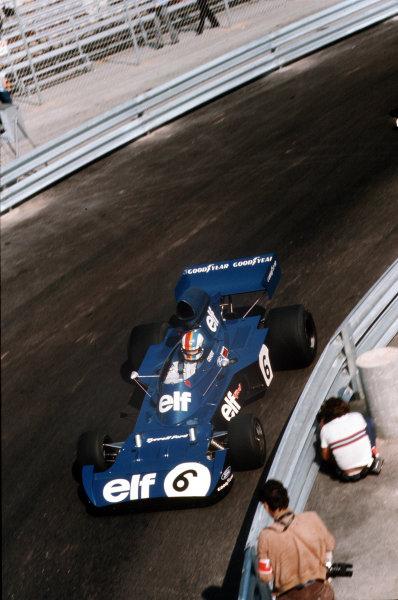 Monte Carlo, Monaco. 31/5-3/6 1973. Francois Cevert (Tyrrell 006 Ford) 4th position. Ref-73 MON 52. World Copyright - LAT Photographic