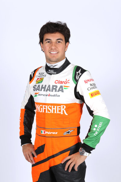 Force India VJM07 Online Launch Images 23 January 2014 Sergio Perez, Force India Photo: Force India (Copyright Free FOR EDITORIAL USE ONLY) ref: Digital Image jm1423ja44