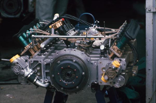 1972 German Grand Prix.  Nurburgring, Germany. 28-30th July 1972.  Tecno flat 12 engine from Derek Bell's Tecno PA123.  Ref: 72GER97. World Copyright: LAT Photographic