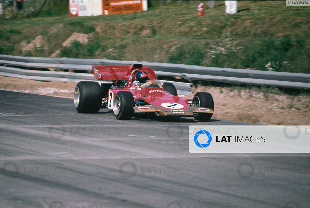 1971 Canadian Grand Prix.  Mosport, Canada. 17-19th September 1971.  Emerson Fittipaldi, Lotus 72D Ford.  Ref: 71CAN33. World Copyright: LAT Photographic