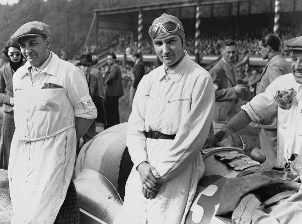 Donington Park, England. 2nd October 1937.Dick Seaman, Portrait.Ref: C12982.World Copyright: LAT Photographic.