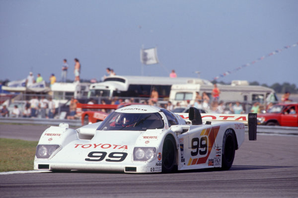 Daytona 24 Hours, Florida, USA. 3rd - 4th February 1990. Drake Olson/Rocky Moran/Juan-Manuel Fangio II (Eagle HF89 Toyota), retired, action. World Copyright: LAT Photographic. Ref:  90IMSA DAY05.