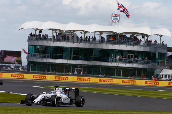 Silverstone, Northamptonshire, UK Friday 8 July 2016. Felipe Massa, Williams FW38 Mercedes. World Copyright: Hone/LAT Photographic ref: Digital Image _ONZ9604