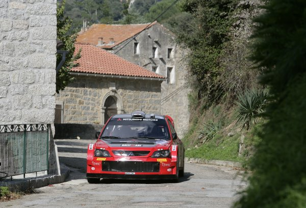 2005 FIA World Rally Champs. Round fourteenRallye De France.20th-23rd October 2005.Harri Rovanpera, Mitsubishi, Action.World Copyright: McKlein/LAT