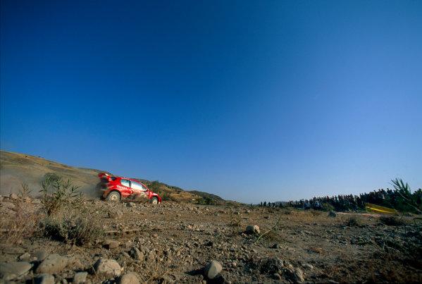2003 World Rally ChampionshipRally of Cyprus, Cyprus. 19th - 22nd June 2003.Harri Rovanpera/Risto Pietilainen (Peugeot 206 WRC), action.World Copyright: McKlein/LAT Photographicref: 03WRCCyprus06