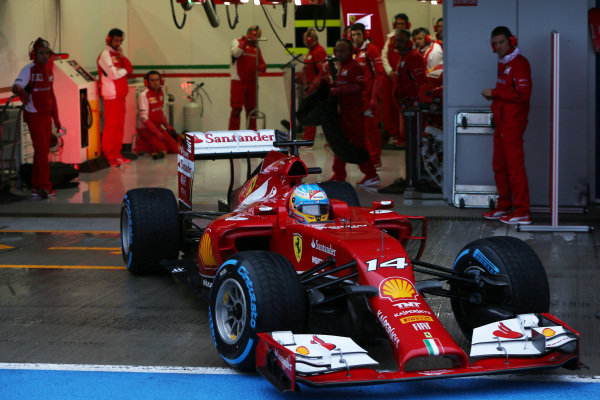 Fernando Alonso (ESP) Ferrari F14 T. Formula One Testing, Jerez, Spain, Day Four, Friday 31 January 2014.