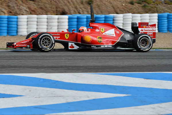 Kimi Raikkonen (FIN) Ferrari F14 T. Formula One Testing, Jerez, Spain, Day Two, Wednesday 29 January 2014.