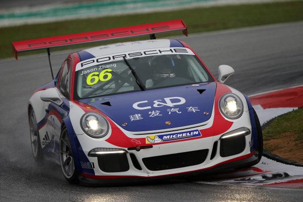 Jason Zhi Qiang Zhang (CHN) Team C&D. Porsche Carrera Cup Asia, Sepang, Malaysia, 28-30 March 2014.