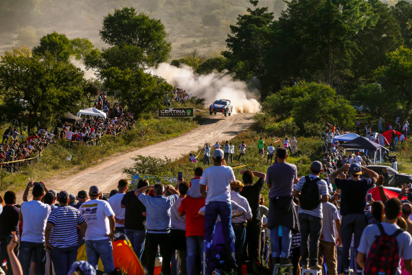 2017 FIA World Rally Championship, Round 05, Rally Argentina, April 27-30, 2017, Hayden Paddon, Hyundai, Action, Worldwide Copyright: McKlein/LAT