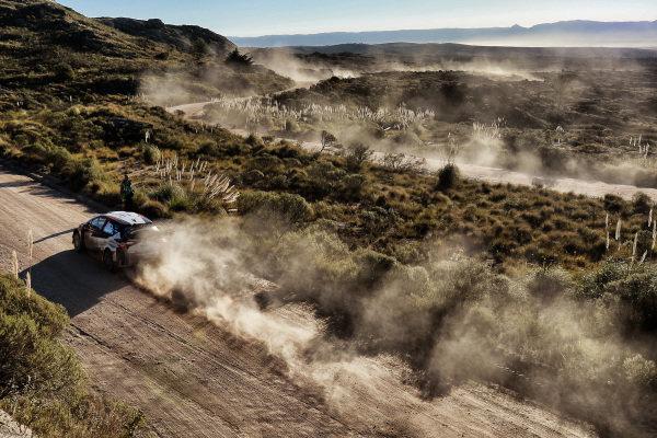 Juho Hanninen (FIN) / Kaj Lindstrom (FIN), Toyota Gazoo Racing Toyota Yaris WRC at World Rally Championship, Rd5, Rally Argentina, Day Two, Villa Carlos Paz, Cordoba, Argentina, 29 April 2017.