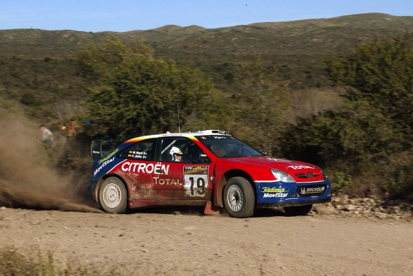 2003 FIA World Rally Champs. Round Five, Argentina,  8th-11th May 2003 Carlos Sainz, Citroen, action. World Copyright: McKlein/LAT
