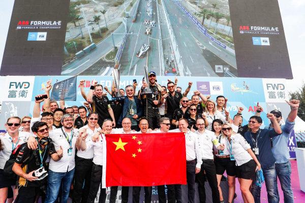 The DS TECHEETAH team celebrates victory