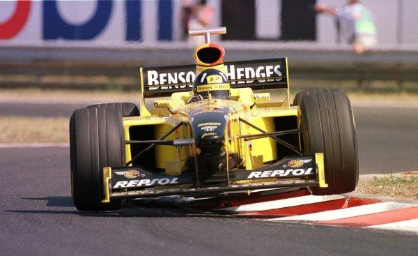 1998 Hungarian Grand Prix.Hungaroring, Budapest, Hungary.14-16 August 1998.Damon Hill (Jordan 198 Mugen Honda).World Copyright - Steve Etherington/LAT Photographic