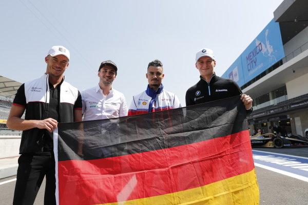 Andre Lotterer (DEU), Tag Heuer Porsche, Porsche 99x Electric, Daniel Abt (DEU), Audi Sport ABT Schaeffler, Audi e-tron FE06, Pascal Wehrlein (DEU), Mahindra Racing, M6Electro and Maximilian Günther (DEU), BMW I Andretti Motorsports, BMW iFE.20