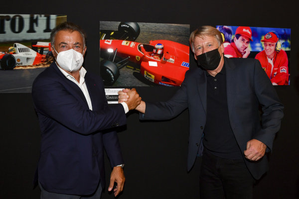 Jean Alesi and Steven Tee, Motorsport Images Exhibition at Villa Reale di Monza