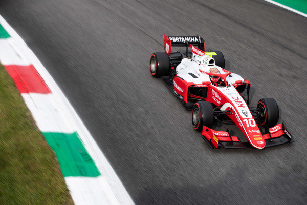 AUTODROMO NAZIONALE MONZA, ITALY - SEPTEMBER 06: Sean Gelael (IDN,PREMA RACING) during the Monza at Autodromo Nazionale Monza on September 06, 2019 in Autodromo Nazionale Monza, Italy. (Photo by Joe Portlock / LAT Images / FIA F2 Championship)