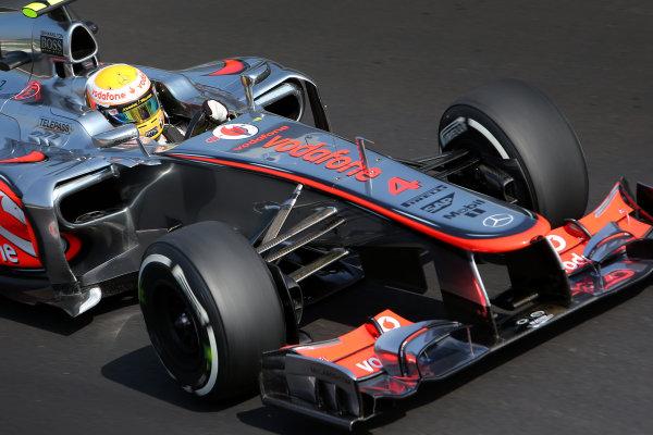 Autodromo Nazionale di Monza, Monza, Italy. 7th September 2012. Lewis Hamilton, McLaren MP4-27 Mercedes.  World Copyright: Steve Etherington/LAT Photographic ref: Digital Image SNE24084 copy
