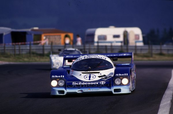 Spa-Francorchamps, Belgium. 1st September 1985. Rd 7.Stefan Bellof/Thierry Boutsen (Porsche 956), retired due to a fatal accident to Stefan Bellof, action. World Copyright: LAT Photographic.Ref:  85SPA04