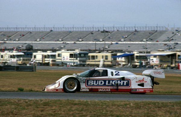 David Brabham (AUS) TWR Jaguar XJR-12D, 2nd place.IMSA GTP Championship, Rd1, Daytona 24 Hours, Daytona Beach, Florida, USA. 2 January 1992.BEST IMAGE
