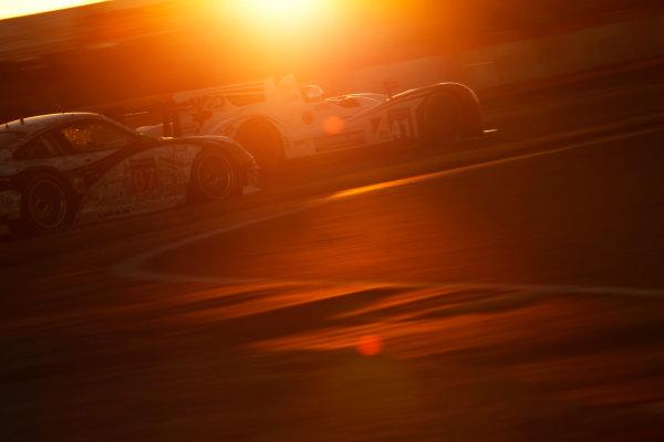 2014 Le Mans 24 Hours. Circuit de la Sarthe, Le Mans, France. Thursday 12 June 2014. Thomas Kimber-Smith (GBR), Chris Dyson (USA), Matthew McMurray (USA) - Greaves Motorsport, Zytek Z11SN-Nissan & Erik Maris (FRA), Jean-Marc Merlin (FRA), Eric Helary (FRA) - IMSA Performance Matmut, Porsche 911 GT3 RSR  Photo: Sam Bloxham/LAT ref: Digital Image _G7C4000