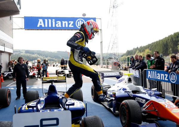 2014 GP2 Series Round 8. Spa-Francorchamps, Spa, Belgium. Sunday 24 August 2014. Felipe Nasr (BRA, Carlin)  Photo: Jed Leicester/GP2 Series Media Service. ref: Digital Image _JED9116