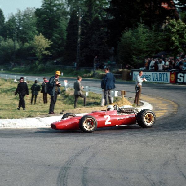 Spa-Francorchamps, Belgium.16-18 June 1967.Ludovico Scarfiotti (Ferrari 312).Ref-3/2972.World Copyright - LAT Photographic