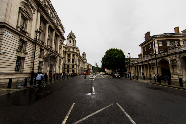 F1 Live London. London, United Kingdom. Tuesday 11 July 2017. A view of Whitehall road. World Copyright: Zak Mauger/LAT Images ref: Digital Image _56I5413