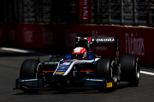 2017 FIA Formula 2 Round 4. Baku City Circuit, Baku, Azerbaijan. Friday 23 June 2017. Luca Ghiotto (ITA, RUSSIAN TIME)  Photo: Zak Mauger/FIA Formula 2. ref: Digital Image _54I9823