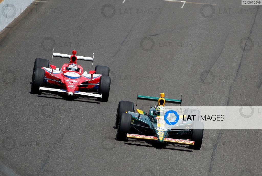 29 May, 2011, Indianapolis, Indiana, USATony Kanaan leads Vitor Meira.© 2011 Phillip AbbottLAT Photo USA