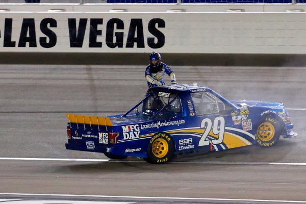 1 October, 2016, Las Vegas, Nevada USA Tyler Reddick celebrates his win  ?2016, Russell LaBounty LAT Photo USA