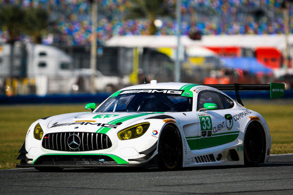 5-8 January, 2017, Daytona Beach, Florida USA 33, Mercedes, Mercedes AMG GT3, GTD, Ben Keating, Jeroen Bleekemolen, Mario Farnbacher ©2017, Barry Cantrell LAT Photo USA
