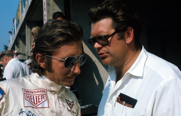 Jo Siffert(SUI) left, and BRM team manager Tim Parnell(GBR)Italian GP, Monza 1971Killed at Brands Hatch in a non- championship F1 race in 1971
