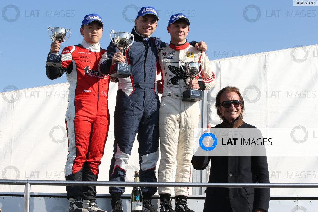 2013 BARC Formula RenaultSilverstone, Northants, 28th-29th Septemver 2013,Race 2 Podium with Emerson Fittipaldi (BRA)World Copyright. Jakob Ebrey/LAT Photographic