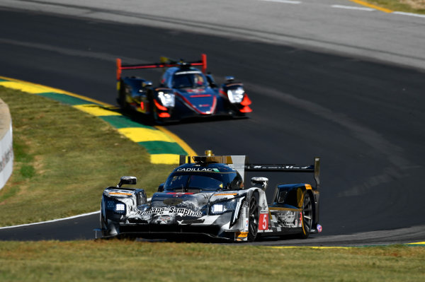 IMSA WeatherTech SportsCar Championship Motul Petit Le Mans Road Atlanta, Braselton GA Thursday 5 October 2017 5, Cadillac DPi, P, Joao Barbosa, Christian Fittipaldi, Filipe Albuquerque World Copyright: Richard Dole LAT Images ref: Digital Image RDPLM005
