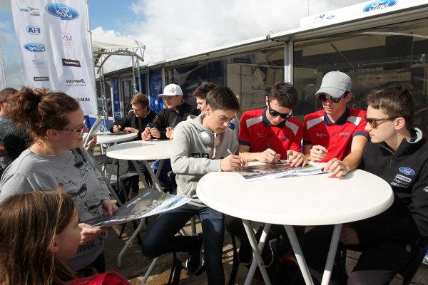 2017 MSA British F4 Championship, Silverstone, Northants, UK. 16th-17th September 2017 F4 Autograph Session World copyright. JEP/LAT Images