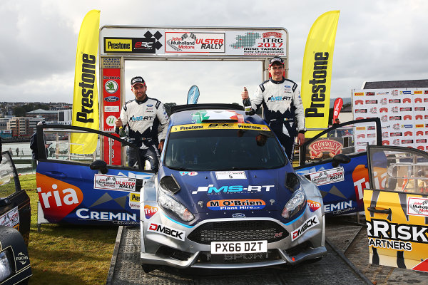 2017 British Rally Championship, Ulster Rally, Londonderry. 18th - 19th August 2017. Keith Cronin / Mikie Galvin Ford Fiesta R5 World Copyright: JEP/LAT Images.