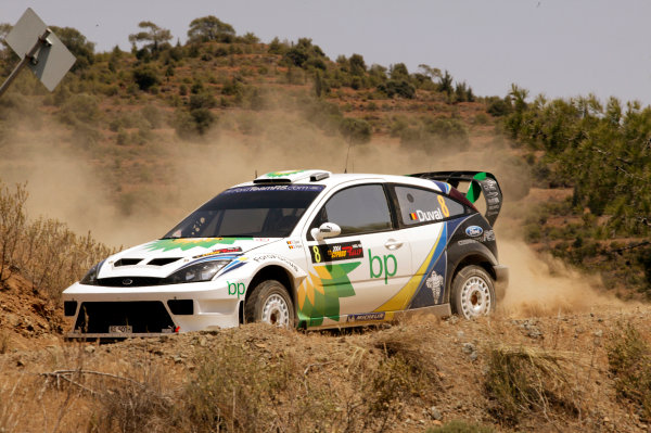 2004 FIA World Rally Champs. Round five, Cyprus Rally.14th- 16th May 2004.Francois Duval, Ford, action.World Copyright: McKlein/LAT