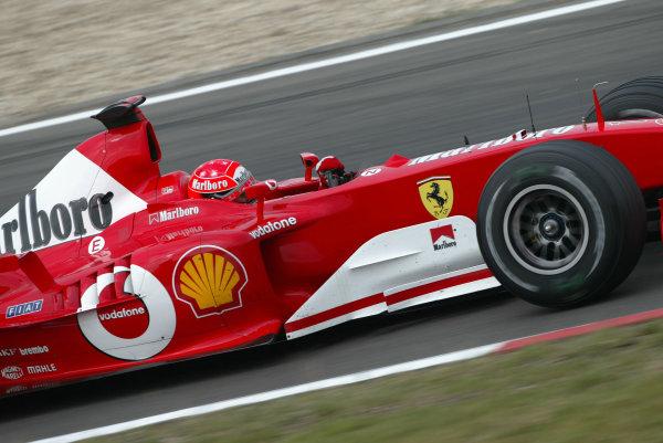 2003 European Grand Prix - Saturday Final Qualifying,Nurburgring, Germany. 28th June 2003 Michael Schumacher, Ferrari F2003 GA, action.World Copyright: Steve Etherington/LAT Photographic ref: Digital Image Only