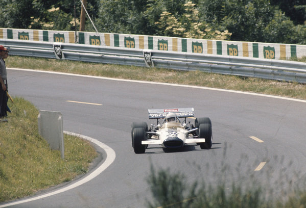 1970 French Grand Prix.Clermont-Ferrand, France. 3-5 July 1970.Pete Lovely (Lotus 49B Ford). Ref-70 FRA 16.World Copyright - LAT Photographic