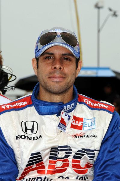 Vitor Meira (BRA), AJ Foyt Enterprises. IndyCar Series, Rd3, Road Runner Turbo 300, Kansas Speedway, Kansas, USA. 25-26 April 2009.