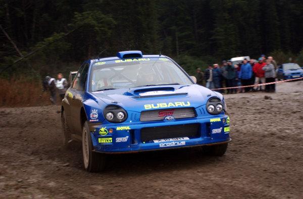 2001 FIA World Rally Championship.Rally of Great Britain. Cardiff, Wales. November 22-25, 2001.Markko Martin during shakedown.Photo: Ralph Hardwick/LAT