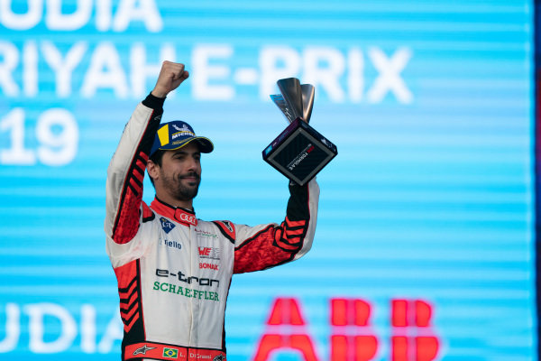 Lucas Di Grassi (BRA), Audi Sport ABT Schaeffler, on the podium
