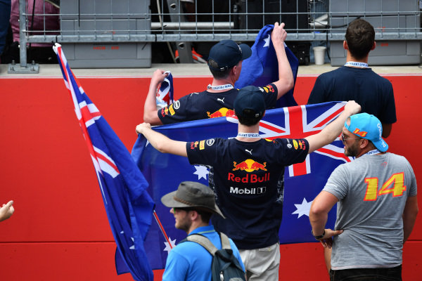 Fans at Formula One World Championship, Rd9, Austrian Grand Prix, Race, Spielberg, Austria, Sunday 9 July 2017.