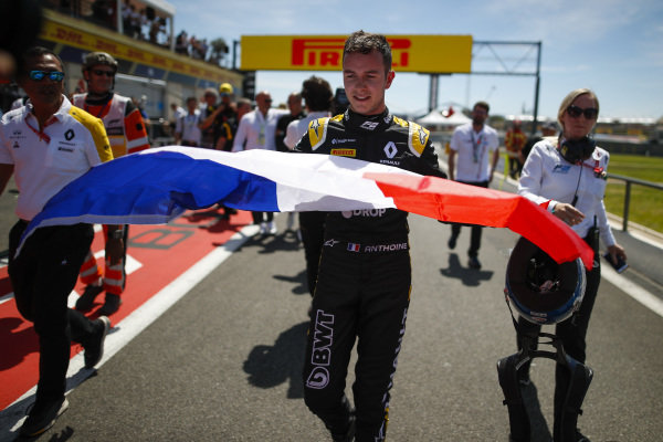 Anthoine Hubert (FRA, BWT ARDEN), celebrates victory with a French Tricolore