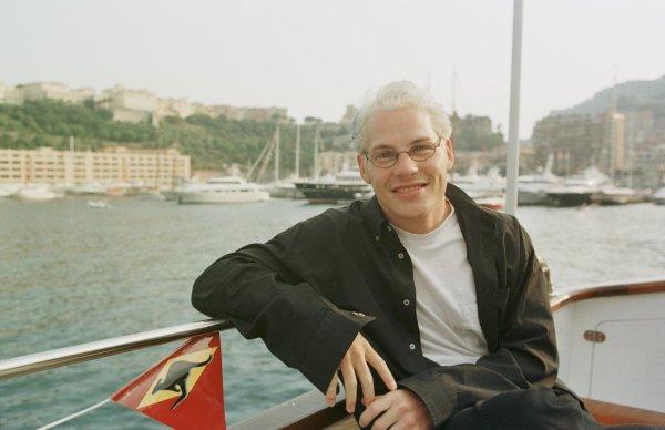 1998 Monaco Grand Prix.Monte Carlo, monaco.21-24 May 1998.Jacques Villeneuve (Williams Mecachrome) relaxes on a boat in the harbour.World Copyright - Steve Etherington/LAT Photographic