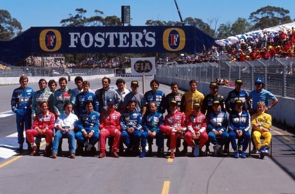 The driver lineup of 1990 Australian GP - Adelaide, Australia, 4 November 1990