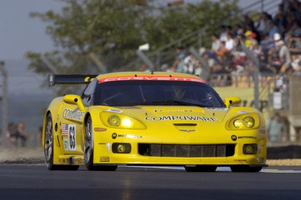 Ron Fellows (CDN) / Johnny O'Connell (USA) / Max Papis (ITA) Corvette Racing Corvette C6.R. Le Mans 24 Hours Test Day, Le Mans, France, 4 June 2006. DIGITAL IMAGE